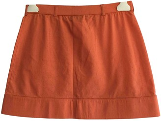 Fendi Orange Viscose Skirts