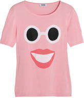 Moschino Cheap & Chic Moschino Cheap and Chic Face-intarsia cotton top