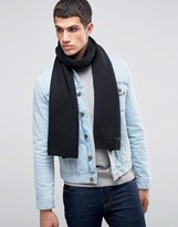 Tommy Hilfiger Cashmere Mix Scarf In Black
