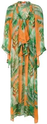 AMIR SLAMA Floral silk dress