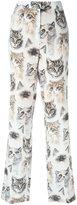 Stella McCartney cat print trousers