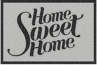 Beaumont 5th Avenue Home Sweet Home Vinyl Door Mat - Black