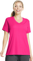 Just My Size Plus Size Cool Dri Performance V-Neck Tee