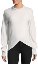 Thierry Mugler Crewneck Cross-Front Sweater