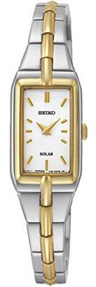 Seiko Womens Analogue Classic Solar Powered Watch with Stainless Steel Strap SUP272P9