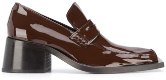 Martine Rose Block Heel Patent Leather Loafers