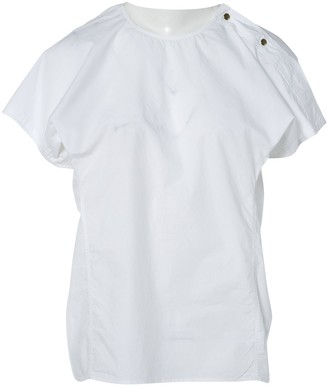 Sofie D'hoore White Cotton Top for Women