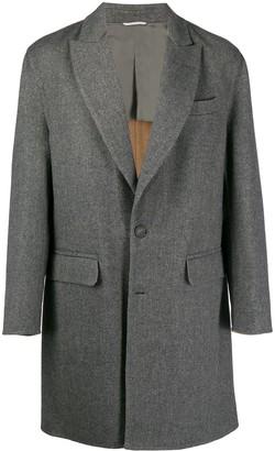 Brunello Cucinelli single breasted overcoat