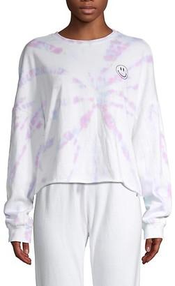 Betsey Johnson Tie-Dye Long Sleeve Pullover