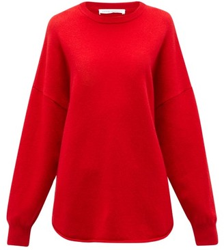 Extreme Cashmere - No. 53 Crew Hop Stretch-cashmere Sweater - Red