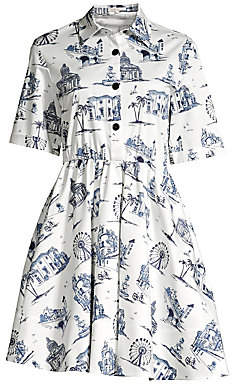 Maje Women's Architecture Print Shirtdress