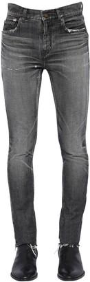 Saint Laurent 15cm Low Rise Skinny Denim Jeans