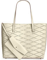 DKNY Marley Diamond-Perforated Large Tote, Created for Macy's