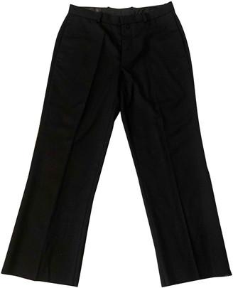 R 13 Black Wool Trousers