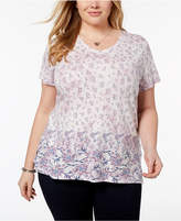Style&Co. Style & Co Plus Size Cotton Printed T-Shirt, Created for Macy's
