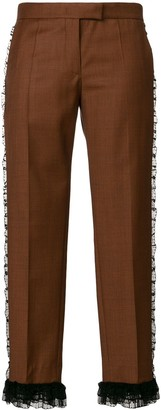 Marco De Vincenzo Frill Trim Cropped Trousers