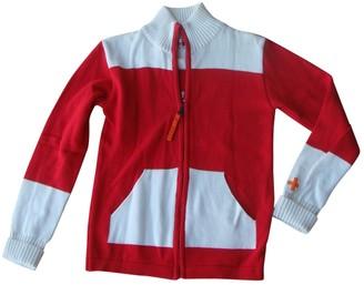 JC de CASTELBAJAC Red Cotton Leather Jacket for Women