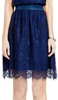 Vince Camuto Scalloped Lace A-Line Skirt