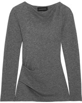 By Malene Birger Estralita Gathered Stretch-jersey Top - Gray