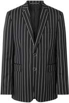 Burberry Slim Fit Press-stud Pinstriped Wool Tailored Jacket
