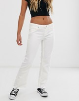 Pieces flared jeans in white