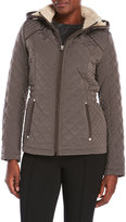 Laundry by Design Quilted Jacket with Removable Hood