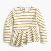 J.Crew Girls' glittery striped swingy T-shirt
