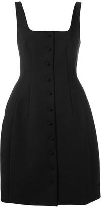 Sara Battaglia Buttoned-Down Mini Dress