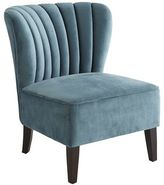 Pier 1 Imports Emille Pool Blue Channel Back Chair