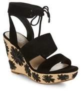 424 Fifth Sage Suede Platform Wedge Sandals