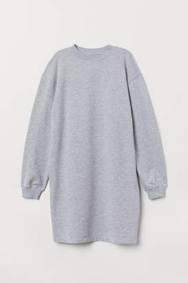 H&M Short Sweatshirt Dress - Gray