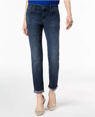 INC International Concepts Inc Curvy-Fit Cuffed Boyfriend Jeans
