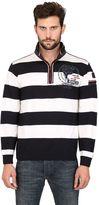 Paul & Shark Wool Striped Zipped Sweater
