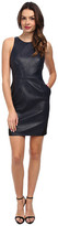 ABS by Allen Schwartz Vegan Leather Dress w/ Back Cutouts