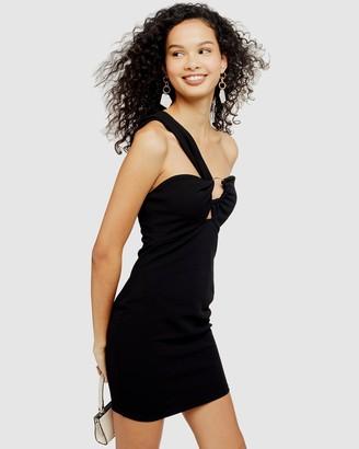 Topshop Twist One-Shoulder Mini Dress