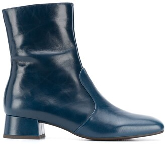Chie Mihara Squared Toe Ankle Boots