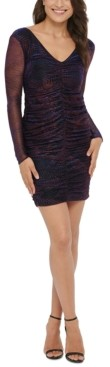 GUESS Metallic Ruched Bodycon Dress