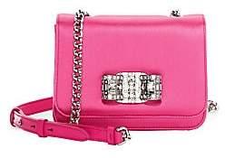 Salvatore Ferragamo Women's Swarovski Crystal-Embellished Satin Crossbody Bag
