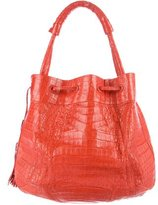 Nancy Gonzalez Crocodile Bucket Bag