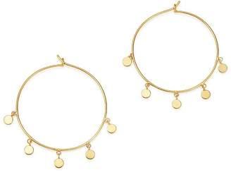 Chicco Zoë 14K Yellow Gold Itty Bitty Dangling Round Discs Hoop Earrings