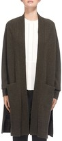 Whistles Boiled Wool Longline Cardigan