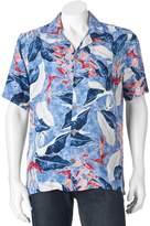 Caribbean Joe Men's Classic-Fit Convertible-Collar Tropical Button-Down Shirt