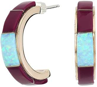 Vanessa Mooney Santa Fe Earrings with Coral and Turquoise (Bronze/Purple) Earring