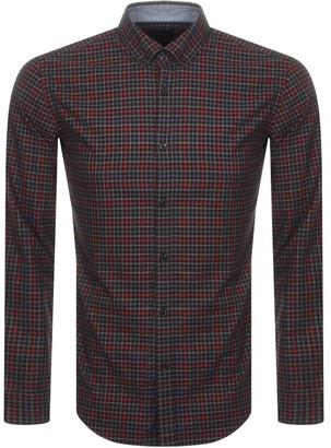 Boss Business BOSS HUGO BOSS Rikard Check Shirt Red