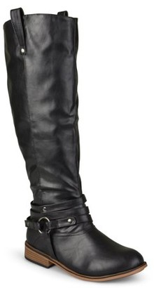 Brinley Co. Extra Wide Calf Ankle Strap Knee-high Riding Boots (Women's)