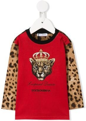 Dolce & Gabbana Leopard Queen sweatshirt
