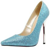 Katypeny Women's Plus Size Shallow Mouth Pointed Toe Slip On Stiletto Heel Pump Shoes Shoes Sequins 8.5 US M