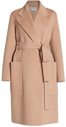 Acne Studios Belted Double-Faced Wool Coat