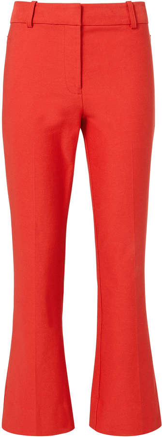 Derek Lam 10 Crosby Red Crop Flare Pants