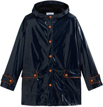 About A Worker X La Redoute Mid-Length Hooded Parka